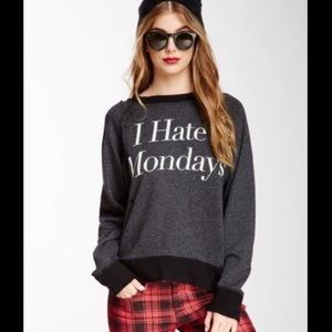 WILDFOX I Hate Monday's distressed Jumper